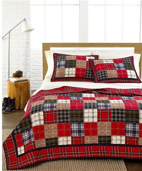 Plaid Patchwork Quilts - martha stewart plaid patchwork multi plaid