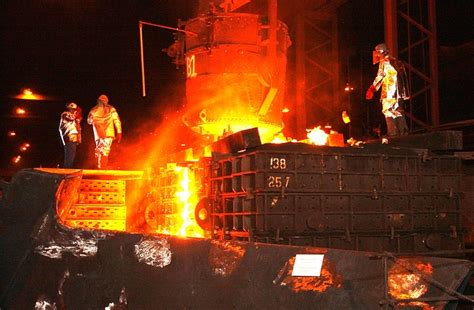 photo steel mill workers foundry metal