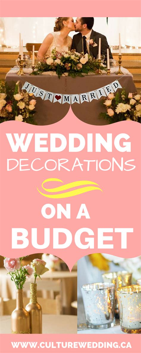 unique wedding reception ideas on a budget how to get wedding decorations on a budget get them now