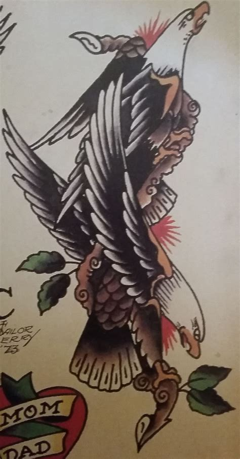 traditional old tattoo sailor jerry eagle bird