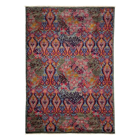 6 by 8 foot rugs darya rugs arts silver 6 ft 2 in x 8 ft 8 in indoor area rug m1780 185 the home depot
