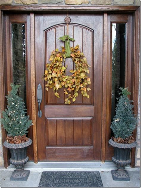 Simple Fall Front Porch Wreath For The Home Pinterest Fall Wreath Ideas Front Door