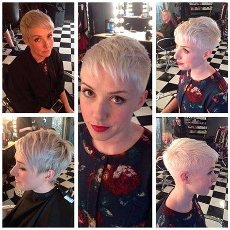 short platinum blonde pixie cut  fine hair hairstyles