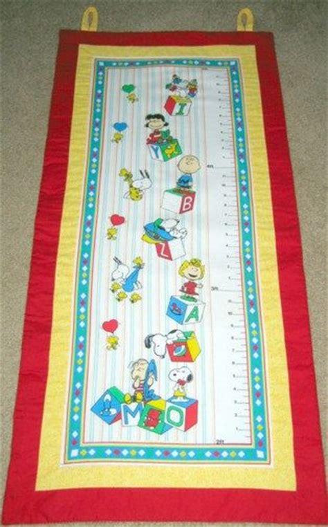 pattern for fabric growth chart 73 best images about snoopy quilts on pinterest