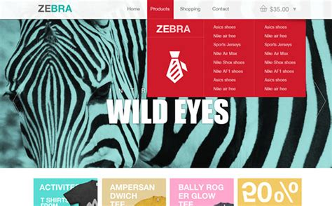zebra pattern css zebra ecommerce website template psd freebiesbug