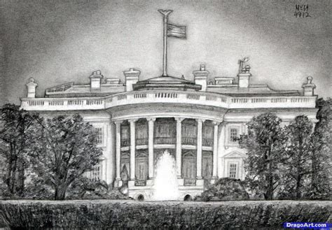 how to draw the white house how to draw the white house step by step famous places