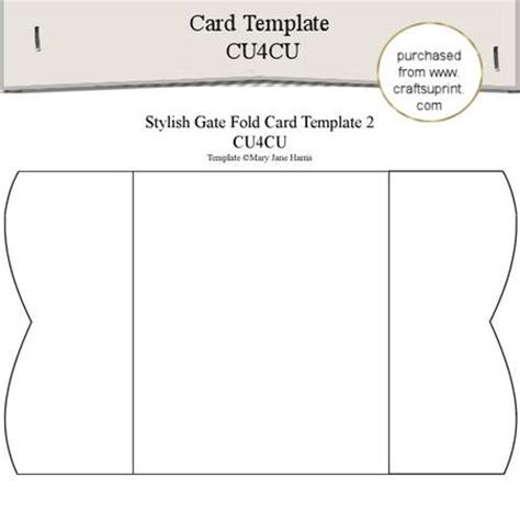 Stylish Gate Fold Card Template 2 Cup289335 99 Craftsuprint Card Folds Templates