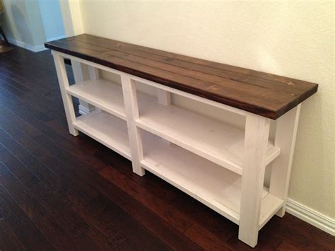 ana white sofa table rustic chic console table thelotteryhouse