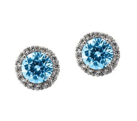 diamonique 100 facet stud earrings platinum clad qvc
