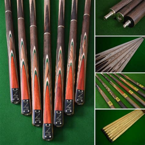 Handmade Snooker Cues - 57 quot handmade snooker cue with a multi spliced rosewood