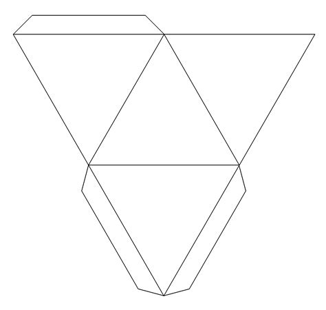 best photos of 3d paper pyramid template how to make a