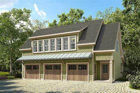 bed garage apartment plan  large porch