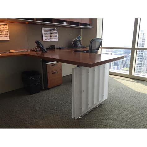 herman miller desk l herman miller geiger used l shape veneer partner desk