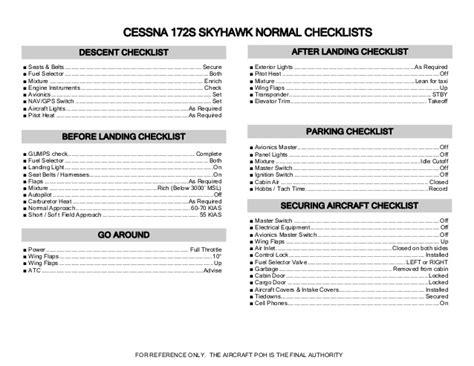Normal Landing Of Cessna 172 checklist c172 skyhawk jornaldoar