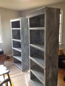 paint laminate bookcase blissfully chic diy painting laminate bookshelves