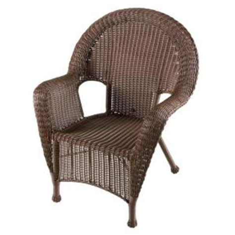 Home Depot Wicker Chairs kingman bayside brown all weather wicker patio chair