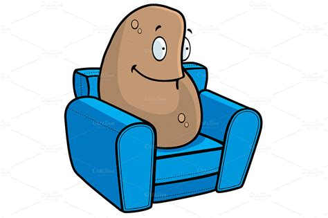 couch potato cartoon couch potato illustrations on creative market