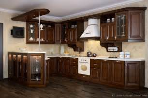 walnut color kitchen cabinets pictures of kitchens traditional dark wood kitchens