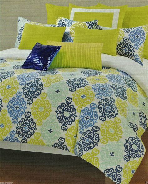 cynthia rowley bedding queen cynthia rowley queen damask medallion blue lime green aqua