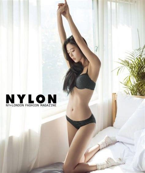 cute girl in her underwear clara shows off her figure in guess underwear for nylon