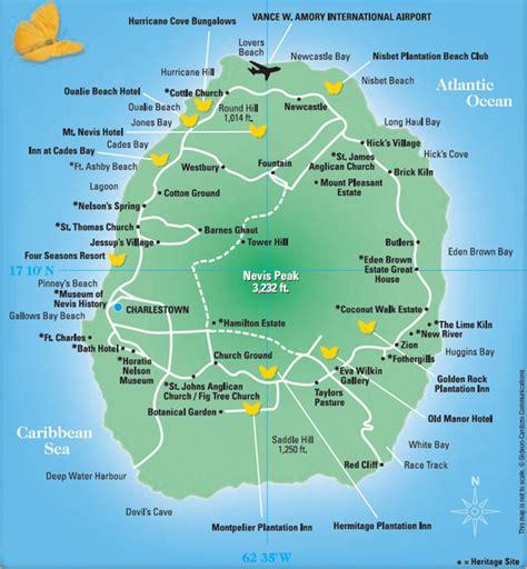 nevis island nevis tourist map nevis island mappery