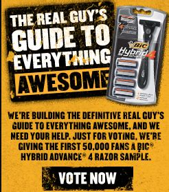 hurry free bic hybrid razor (first 50,000 only)