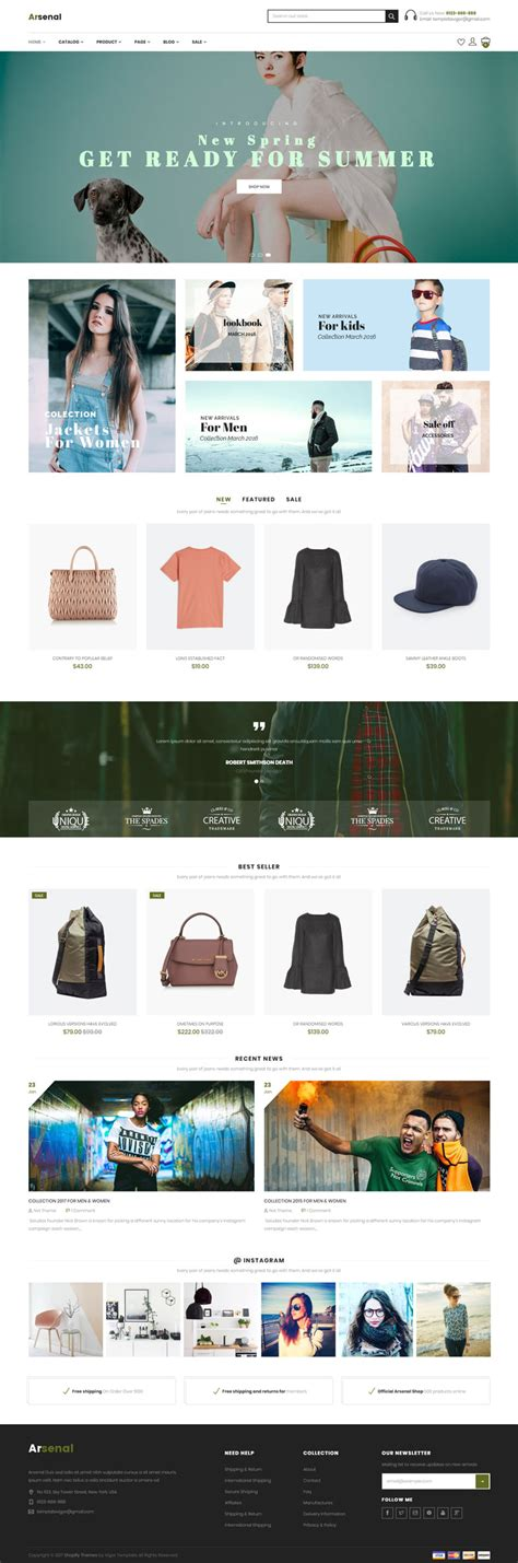 shopify themes for wordpress aresenal shopify theme