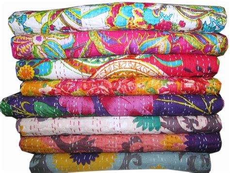 Cheap Handmade Quilts - wholesale kantha quilt cotton fabric bedsheet indian