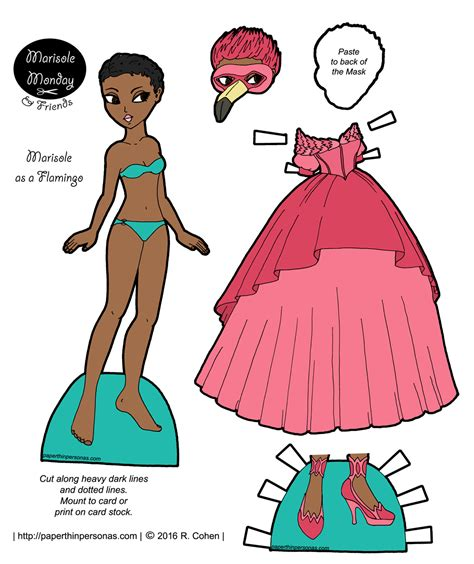 printable paper doll dresses marisole archives paper thin personas
