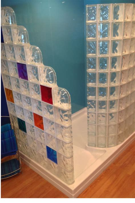 glass wall panels bathroom color glass blocks innovate building solutions blog