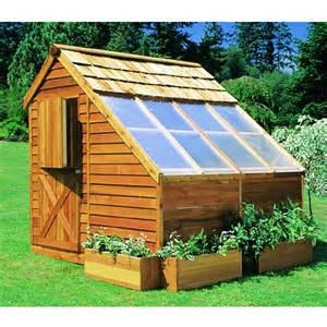 cedar shed sunhouse backyard greenhouse storage 8x8
