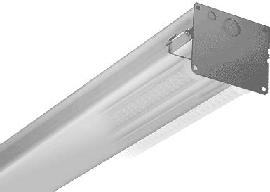 4 lamp 4' led tube industrial fixture 2x4 | green lighting led