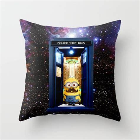 tardis doctor who with minion decorative cushion pillow