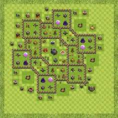fungsi layout editor di coc clash of clans war base design level 9 town hall