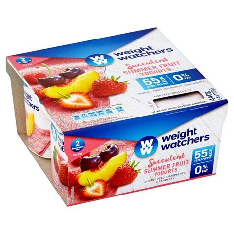 fruit 0 points weight watchers morrisons weight watchers summerfruit yogurt 4 x 110g