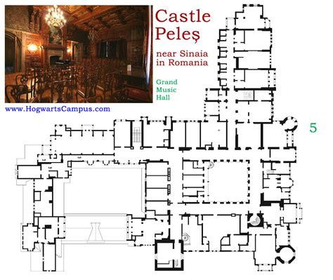 hogwarts castle floor plan peles castle floor plan 5th floor