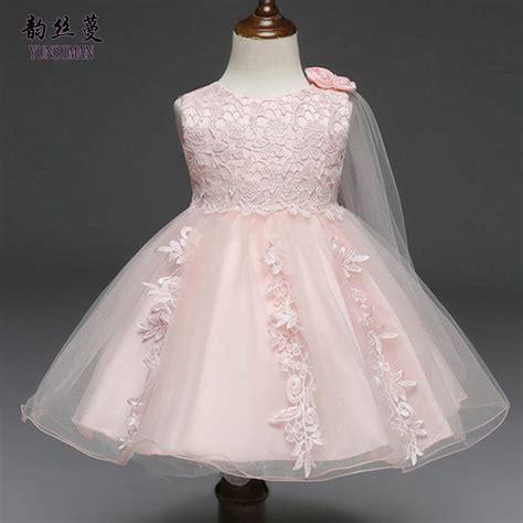 2019 baby dresses 3 6 9 12 18 24 months white lace wedding dress flower princess