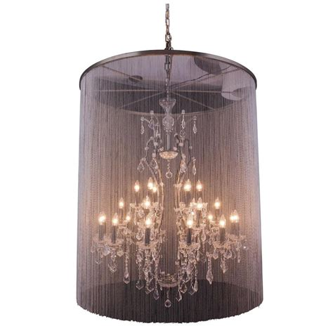Brown Chandelier Lighting 25 Light Mocha Brown Chandelier With Clear 1131g44mb Rc The