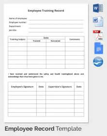 Record Sheet Template by Employee Record Templates 32 Free Word Pdf Documents