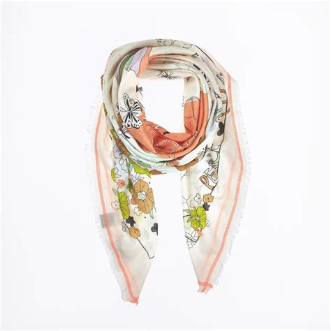 peace and happiness scarf orange s scarves