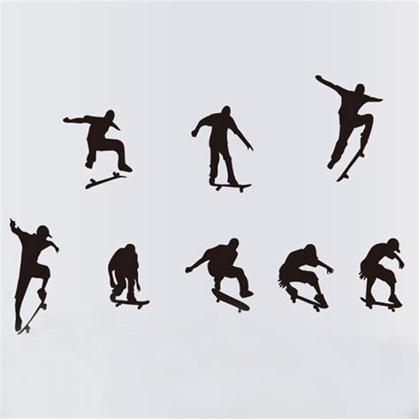 Boys Wall Art Stickers kids boys skate skateboard wall sticker mural decal wall