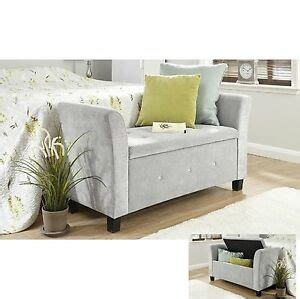 Bedroom Chair With Ottoman by Fabric Storage Bench Chaise Longue Deluxe Stool Bedroom