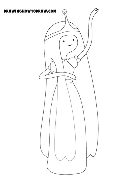 How To Draw Princess Bubblegum From Adventure Time In Easy Princess Bubblegum Coloring Pages Printable