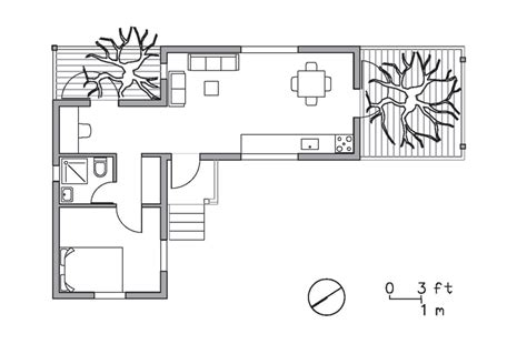Golany Architects Two Tree House Small Tree House Floor Plans