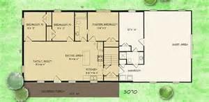 House Barn Combo Floor Plans Barndominium House Plans Barndominium Plan 3 Bedroom 1 5