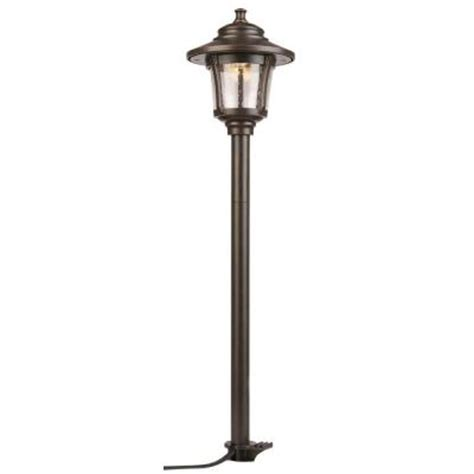 low voltage led outdoor lights hton bay low voltage led rubbed bronze outdoor path