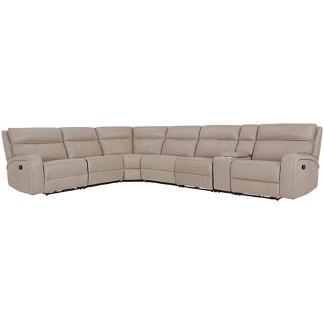 microfiber reclining sectional city furniture rhett taupe microfiber large two arm
