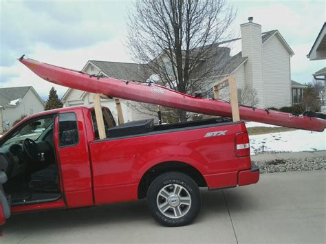 truck bed kayak rack marda knowing diy kayak rack for truck bed