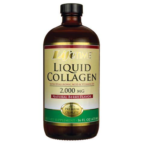 Vitamin Collagen lifetime vitamins liquid collagen with hyaluronic acid vitamin d3 16 fl oz 473 ml liquid