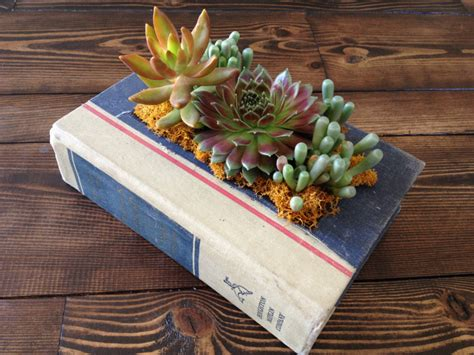 How To Make A Book Planter by 6 Awesome Ways To Upcycle Books